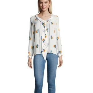 b615d8c6d324c Tucker The Tie Front Blouse Follow The Rainbow Top